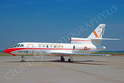 Dassault Falcon 50 00001 Dassault Falcon 50 Spanish Air Force 401-09 July 1986 via African Aviation Slide Service