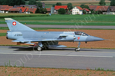 Dassault Mirage 5A 00001 Dassault Mirage 5A Swiss Air Force J-2301 26 August 1992 by Christoph Kugler via African Aviation Slide Service