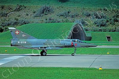 Dassault Mirage III 00033 Dassault Mirage III Swiss Air Force R-2118 August 1981 by Wilfried  Zetsche