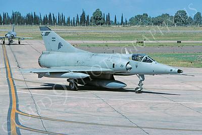 Dassault Mirage III 00029 Dassault Mirage III Argentine Air Force December 2005 via African Aviation Slide Service