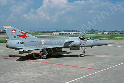 Dassault Mirage III 00039 Dassault Mirage III Swiss Air Force  J-2308 August 1997 via African Aviation Slide Service