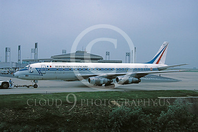 Douglas DC-8Forg 00001 Douglas DC-8 French Air Force 14 June 1995 by Robbie Shaw via African Aviation Slide Service