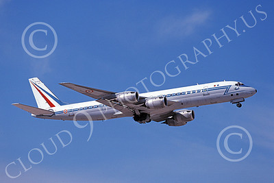 DC-8Forg 00010 A flying Douglas DC-8 French Air Force 46130 2-1998 military airplane picture by Michael Grove, Sr