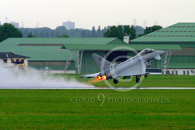 AB - Typ 00020 Eurofiighter Typhoon Italian Air Force afterburner aircraft picture by Stephen W D Wolf