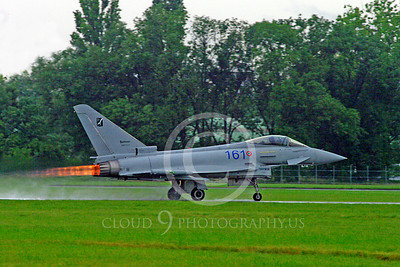 AB - Typ 00001 Eurofiighter Typhoon Italian Air Force afterburner aircraft picture by Stephen W D Wolf