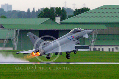 AB - Typ 00068 Eurofiighter Typhoon Italian Air Force afterburner aircraft picture by Stephen W D Wolf