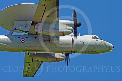 E-2Forg 00010 Grumman E-2 Hawkeye French Navy military airplane picture by Stephen W D Wolf