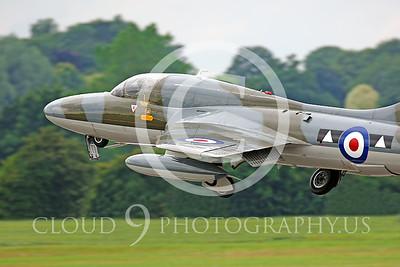Hawker Hunter 00004 British Royal Air Force by Peter J Mancus