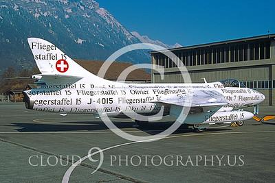 EE-Hunter 00001 Hawker Hunter Swiss Air Force J-4015 May 1999 via African Aviation Slide Service