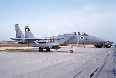 F-15Forg 00003 A static McDonnell Douglas F-15 Eagle jet fighter airplane picture Israeli Air Force 698 4-1999, by Clark Hansen