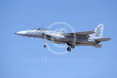 F-15Forg 00014 A landing two seat McDonnell Douglas F-15 Eagle Israeli Air Force 733 9-2002, by Michael Grove, Sr