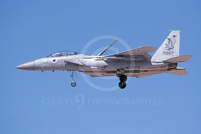 F-15Forg 00046 A landing two seat Israeli Air Force McDonnell Douglas F-15 Eagle jet fighter 706 9-2002, airplane picture, by Michael Grove, Sr