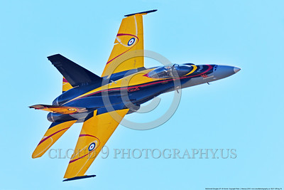 EE-F-18Forg 0016 A flying colorful McDonnell Douglas CF-18 Hornet jet fighter Canadian Armed Forces 188761 410 Sqd COURGARS 9-2016 military airplane picture by Peter J  Mancus
