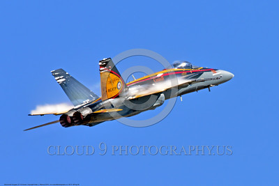 EE-F-18Forg 0006 A flying colorful McDonnell Douglas CF-18 Hornet jet fighter Canadian Armed Forces 188761 410 Sqd COURGARS 9-2016 military airplane picture by Peter J  Mancus