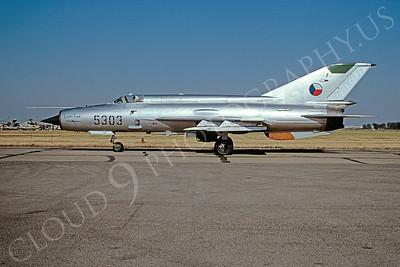 Mikoyan-Guryevich MiG-21 Fishbed 00033 Mikoyan-Guryevich MiG-21 Fishbed Czech Air Force 5303 via African Aviation Slide Service