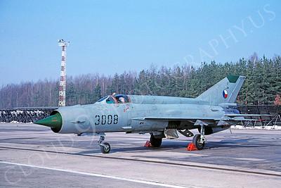 Mikoyan-Guryevich MiG-21 Fishbed 00021 Mikoyan-Guryevich MiG-21 Fishbed Czech Air Force via African Aviation Slide Service