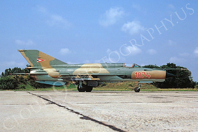 Mikoyan-Guryevich MiG-21 Fishbed 00025 Mikoyan-Guryevich MiG-21 Fishbed Hungarian Air Force 1874 August 1991 via African Aviation Slide Service