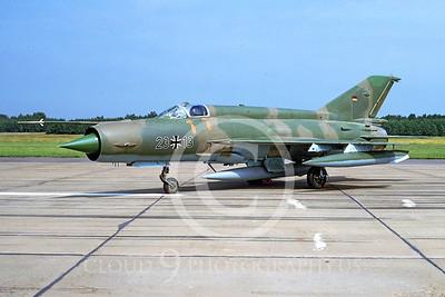 Mikoyan-Guryevich MiG-21 Fishbed 00005 Mikoyan-Guryevich MiG-21 Fishbed German Air Force 2313 by Meinolf Krassort via African Aviation Slide Service