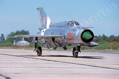Mikoyan-Guryevich MiG-21 Fishbed 00023 Mikoyan-Guryevich MiG-21 Fishbed Polish Air Force 6506 via African Aviation Slide Service