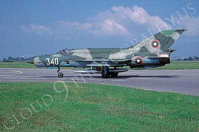 Mikoyan-Guryevich MiG-21 Fishbed 00031 Mikoyan-Guryevich MiG-21 Fishbed Bulgarian Air Force 340 September 2005 via African Aviation Slide Service