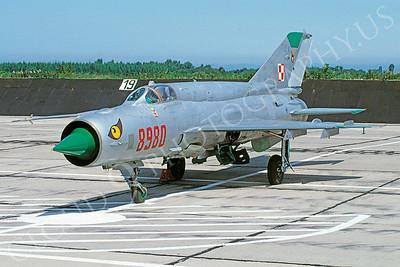 Mikoyan-Guryevich MiG-21 Fishbed 00027 Mikoyan-Guryevich MiG-21 Fishbed Polish Air Force 8980 27 June 1998 via African Aviation Slide Service