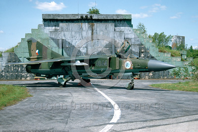 MiG-23 00006 A static Czech Republic Air Force Mikoyan-Guryevich MiG-23ML Flogger fighter-attack jet 7-1992 military airplane picture by F  Visser
