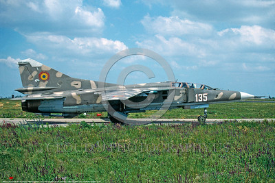 MiG-23 00009 A taxing Romanian Air Force Mikoyan-Guryevich MiG-23ML Flogger 7-2000 military airplane picture by F  Visser  DONEwt