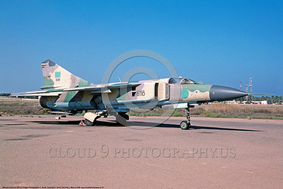 MiG-23 00007 A static Libyan Air Force Mikoyan-Guryevich MiG-23ML Flogger fighter-attack jet 10-2009 military airplane picture by F  Visser DONEwt