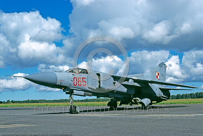 MiG-23 00004 A static Polish Air Force Mikoyan-Guryevich MiG-23ML Flogger variable geometry wing jet interceptor 9-2000 military airplane picture by Ken Collins