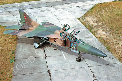 MiG-23UB 00003 Mikoyan-Guryevich MiG-23UB Soviet Air Force July 1992 via African Aviation Slide Service