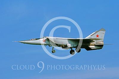 MiG-25 00010 Mikoyan-Gureyvich MiG-25PU Foxbat Soviet 1991 by Wilfried Zetsche AirDOC Collection