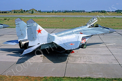 MiG-29 00019 Mikoyan-Guryevich MiG-29 Soviet Air Force September 1991 by MarinusTabak