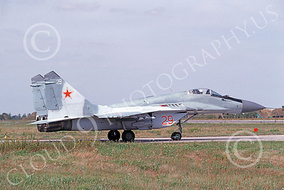 MiG-29 00013 A taxing Mikoyan-Guryevich MiG-29 Fulcrum Soviet Air Force 8-2009 military airplane picture by E De Kruyff
