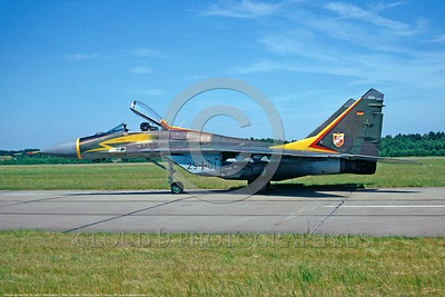 MiG-29 00011 A static German Air Force Mikoyan-Gurevich MiG-29 Fulcrum jet fighter 29 + 01 8-1991 military airplane picture by F  Visser