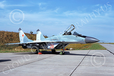 MiG-29 00045 A static Mikoyan-Guryevich MiG-29 Fulcrum Soviet Air Force 28 9-1992 military airplane picture by David Debalso