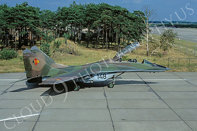 Mikoyan-Guryevich MiG-29UB Fulcrum 00003 Mikoyan-Guryevich MiG-29UB Fulcrum East German Air Force 148 August 1990 via African Aviation Slide Service