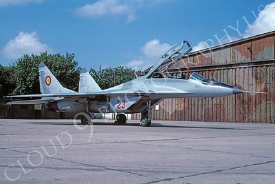 Mikoyan-Guryevich MiG-29UB Fulcrum 00037 Mikoyan-Guryevich MiG-29UB Fulcrum Romanian Air Force 23 via African Aviation Slide Service