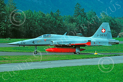 F-5Forg 00051 Northrop F-5E Freedom Fighter Swiss Air Force J-3032 Sept 1997 by Christoph Kugler via African Aviation Slide Service