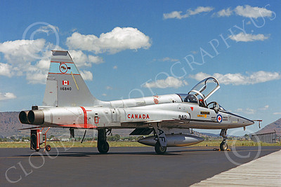 F-5Forg 00052 Northrop F-5F Freedom Fighter Canadian Armed Forces 116840 Kingsley Field by Peter J Mancus