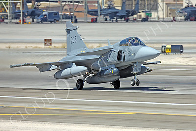 SAAB JAS 39 Gripen 00003 Swedish Air Force 208 Nellis AFB by Peter J Mancus