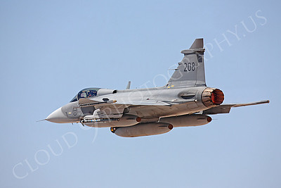 SAAB JAS 39 Gripen 00018 Swedish Air Force 208 by Peter J Mancus