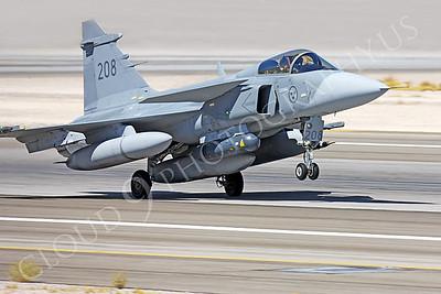 SAAB JAS 39 Gripen 00013 Swedish Air Force 208 by Peter J Mancus