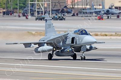 SAAB JAS 39 Gripen 00001 Swedish Air Force 208 Nellis AFB by Peter J Mancus