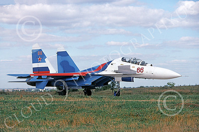 Su-27 00035 A taxing Sukhoi Su-27 Flanker Soviet Air Force 66 8-2009 military airplane picture by Wilfried Zetsche