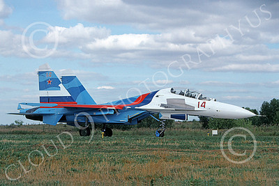 Su-27 00031 A taxing Sukhoi Su-27 Flanker Soviet Air Force 14 8-2009 military airplane picture by Wilfried Zetsche