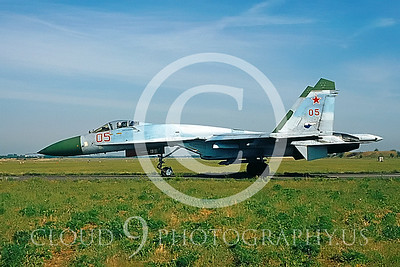 Sukhoi Su-27 Flanker 00002 Soviet Air Force July 1992 by Wilfried Zetsche from AirDOC Collection