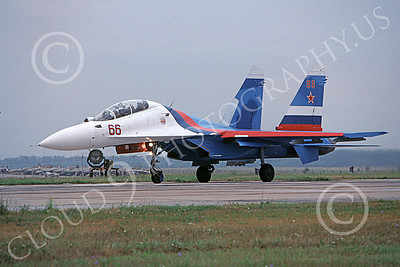 Su-27 00007 A static Sukhoi Su-27 Flanker Soviet Air Force 66 8-2009 military airplane picture by Joe Collins