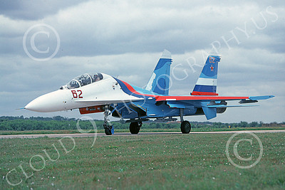 Su-27 00009 A static Sukhoi Su-27 Flanker Soviet Air Force 62 8-2009 military airplane picture by Joe Collins