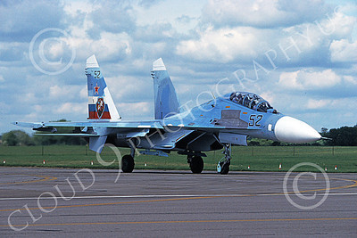 Su-27 00033 A taxing Sukhoi Su-27 Flanker Soviet Air Force 52 7-1997 military airplane picture by Wilfried Zetsche