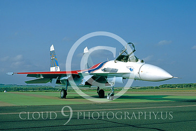Sukhoi Su-27 Flanker 00001 Soviet Air Force Oct 1992 by Wilfried Zetsche from AirDOC Collection